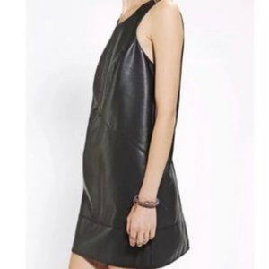 Silence + Noise faux leather edgy mini shift dress